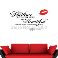 ar decors - MARILYN MONROE Quote Keep Smiling Words Wall Stickers Decals Home Decor Mural Ar