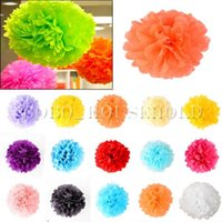 Wholesale 5pcs Tissue Paper Pom Flower Ball Wedding Party Decoration Baby Shower Decor