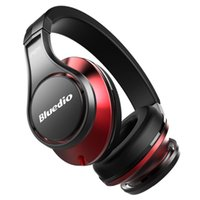 Wholesale Bluedio U UFO High End Bluetooth headphone Patented Driver D Sound Aluminum alloy HiFi wireless Over Ear headphone Black Red