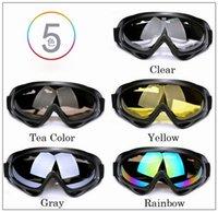 Wholesale 10pcs Ski Goggles Windproof Sand Protector Bike ATV Motocross Ski Snowboard Off road Goggles UV Protection CE X400 Goggles