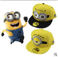 Wholesale 3 Styles Despicable Me Hat Minions Plush Hats Jorge Dave Stewart Minion Cap Despicable Plush Hat Christmas Gift Snapback Hats CCA1752
