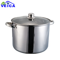 big oven - cm stainless steel kitchen cooking casserole dutch oven for big family cooking with glass lid cover