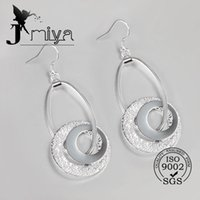 Wholesale 925 sterling silver fashion earrings Italy silver earring for women circle design jewelry for christmas