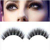 Wholesale 1 Pair Real Mink Natural Thick False Fake Eyelashes Eye Lashes Makeup Extension Beauty Tools