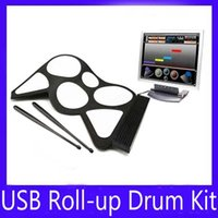 Wholesale Silicone USB Roll Up Drum Kit for laptop USB PC