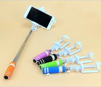 Wholesale Simple life Super Mini Wired Handheld Folding Self Stick Q1 for smartphone palos selfie movil palo extensible self stick perche selfies