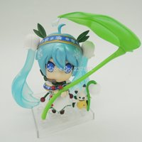 Cheap Hotsell 3pcs set 10cm PVC Cute japanese anime sex dolls Cartoon hatsune miku Mini Action & Toy Figures Dolls Children Gifts