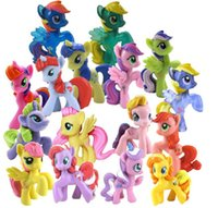 Wholesale My little pony Loose Action Figures toy CM Set Colourful My Little Pony Cake Toppers Doll PVC Action Figures Freeshipping