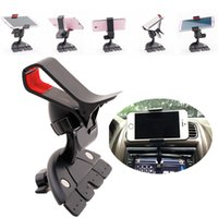 Wholesale Universal Car CD Slot Mount Bracket Rotation Mobile Phone Car Holder for Samsung Iphone Plus S Smartphone GPS Pad K2155