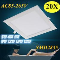 Wholesale Super Brightnesss Led Downlight w w w w w w w Ceiling Light AC85 V SMD LM W Home Lights