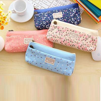 Wholesale School Pencil Bag frozen pencil pouch double zipper pure and fresh penalty cosmetic bags Office stationery canvas pencil case A5