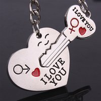 Wholesale New Fashion Lover Gift Stainless Steel Chain Lovebirds Charm Key Ring