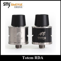 bear totem - Authentic Smy Totem RDA DIY Post Rebuidable Dripping Atomizer with Peek Insulator Black SS Color Wide Bore Drip Tip