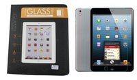 Wholesale For ipad mini Tempered Glass Screen Protector H Explosion Proof retail package For ipad air ipad pc