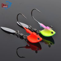 Hard Baits bass jig heads - Hot Sale Roadrunner Jig Heads fishing jigging lure with blade fishing lure Luminous Lures Glow in Dark g g jig fishing lures for bass