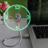 cool led gadgets - 5pcs Cool Office Gadget Desk Flexible Gooseneck USB LED Clock Fan EGS_704