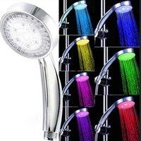 bathtub water faucet - New colorful LED Shower Head Faucet Light Colors Change Bathtub Glow Shower Light Water Flow Shower Head Light