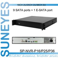Wholesale SunEyes SP NVR P16 P25 P36 U NVR Network Video Recorder with SATA HDD Port P2P ATX110 V HZ Project Quality