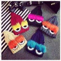 Wholesale 5 design Winter Warm Wool Beanie Ski Beard Knitted Crochet Bobble Hat crochet hats knit eaves beanie hat KKA39