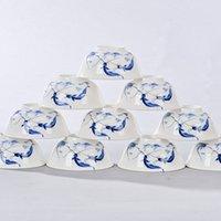 al por mayor china rice-Venta al por mayor-4,5 pulgadas tazones de cerámica chino porcelana china tazón de arroz porcelana vajilla in-esmalte decoración china Regalo mejor deseo