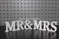 Wholesale Mr Mrs sign wedding Decor newly weds reception Height cm Elegant Freestanding Wooden Letters