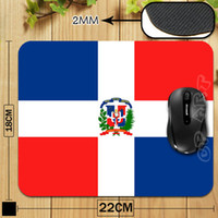 Wholesale Hot Selling High Quality Dominican Republic Flag Vintage Professional Printing Gaming Comfort Mousepad for Optical Laser PC Mice