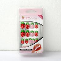 Wholesale Fruit Cute Acrylic False Fake Nail Tip Art