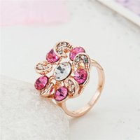 amethyst promise rings - Korean version crystal ring multicolor mysterious cycle eternal promise ring factory direct clouds