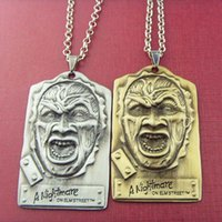 american elm - 2015 New Arrival movie jewelry A Nightmare on Elm Street Charm Freddy Tag pendant necklace Men Jewelry