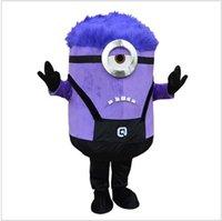 Wholesale 2016 Despicable me Minion mascot costume Purple Minion mascot costume for Adult clothing