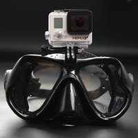 Wholesale 2015 Tempered Dive Snorkeling Scuba Face Mask Swimming For Gopro Hero Camera Scuba Diving Mask Gopro