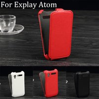 atom pattern - Luxury Lichee Pattern flip Leather Case for Explay Atom leather cover