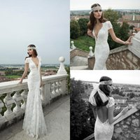Cheap Trumpet/Mermaid 2014 wedding dresses Best Reference Images V-Neck mermaid wedding gown