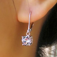 Wholesale 013 CPP Brand High Quality Carat Round Brilliant Cut D VVS1 Synthetic Diamond earrings long earrings hoop earrings