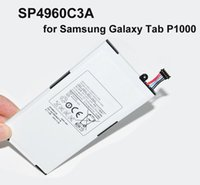 Wholesale 4000mAh SP4960C3A Battery Replacement For Samsung Galaxy Tab P1000 GT P1000 Tablet PC Battery High Quality