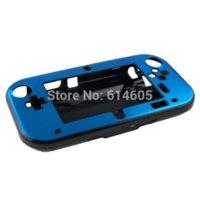 Azul claro Anti-choque de aluminio duro Metal Box Cover Case Shell para Nintendo Wii U Gamepad caja de cocina