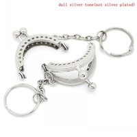 purse clasp - Luggage Bags Bag Parts Accessories Metal Frame Kiss Clasp Arch For Purse Bag Silver Tone Ball Key Chain cm x cm Can Open
