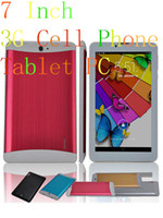 7 inch cell phone - 7 Inch G Cell Phone Tablet PC MTK8312 Dual Core Android RAM GB ROM WIFI FM G Sensor