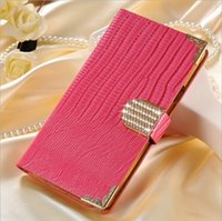 Cheap PU Leather Case Bling Luxury Rhinestone wallet case for samsung galaxy Note 3 N9000 Note 4