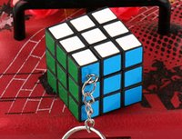 Wholesale Magic Cube Classic Toys Keychain x3x3cm Puzzle Magic Game Toy Pendants Keychain Puzzle Cubic Kids Educational Toys Students Toys