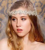 Wholesale Elegant Bridal Crown Tiara Wedding Jewelery Bohemia Hair Accessories Headpieces Frontlet Hair Band headbands for Bridal v02001