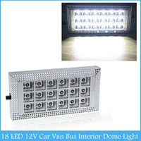 Wholesale 18 LED V Car Van Bus Interior Ceiling Dome Roof Light Lamp Bright White Lighting C176