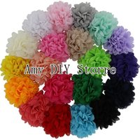 alternative coats - Baby Girls Chiffon Hair Flowers Alternative Flowers With Alligator Clips For Infant Hair Accessories