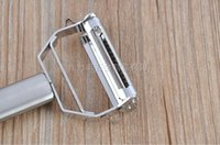 Wholesale Simple Convenient Stainless Steel Peeler for fruit and Vegetable Handy Practical Multi functional Kitchen Supplies For Housewives