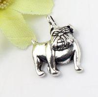 Charms animals english - New x16 mm Tibetan Silver English Bulldog Charms Pendants Jewelry DIY Fit Bracelets Necklace Earrings L108