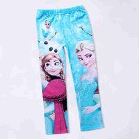 childrens leggings - Girls Frozen leggings Elsa Anna Dress kids frozen pants childrens leggings frozen clothing childrens autumn winter clothese