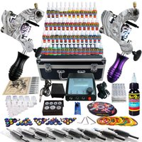 Other Material Machine professional tattoo kit - Solong Tattoo Body Art Complete Tattoo Kit Tattoo Machine Guns Set Ink Power Supply Needle TK259