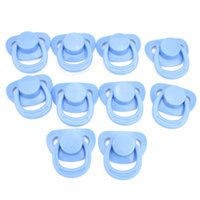 Wholesale 10 set Blue Reborn Magnet Pacifier For Reborn Baby Doll Fake Nipple DUMMY PACIFIER SOOTHER