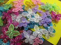 mesh decorative wire - mix color wire mesh glitter butterflies mm wedding decorative animal artificial butterflies