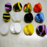 Wholesale Round Storage Oil Slicks Non Stick ml Wax Jar Silicone Customized Bho Oil Container
